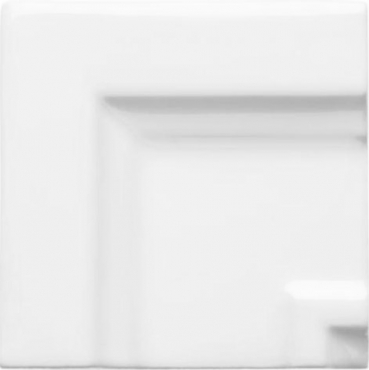 Вставка Adex ADNE5533 Angulo Marco Cornisa Clasica Blanco Z 7x7 глянцевая