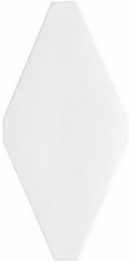 Плитка Adex ADNE8051 Rombo Liso Blanco Z 10x20 матовая