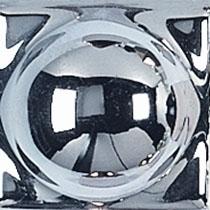 Вставка Adex ADNE8058 Taco Esfera Plata 2x2 глянцевая