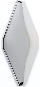 Плитка Adex ADNE8072 Rombo Acolchado Plata 10x20 глянцевая