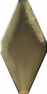 Плитка Adex ADNE8093 Rombo Acolchado Micro Oro 10x20 глянцевая