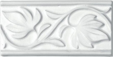 Бордюр Adex ADNT5032 Relieve Hojas Snow 7,5x15 матовый