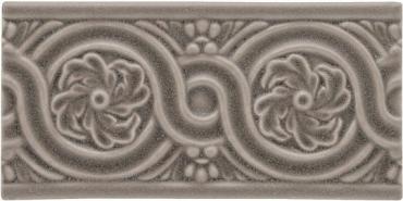 Бордюр Adex ADNT5060 Relieve Flores Marengo 7,5x15 матовый