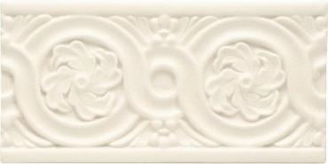 Бордюр Adex ADNT5063 Relieve Flores Linen 7,5x15 матовый