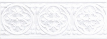 Бордюр Adex ADST4001 Relieve Palm Beach Snow Cap 7,5x19,8 глянцевый