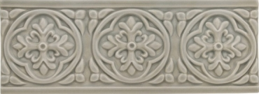 Бордюр Adex ADST4009 Relieve Palm Beach Graystone 7,5x19,8 глянцевый