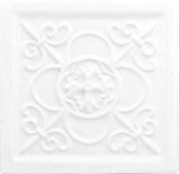 Декоративный элемент Adex ADST4028 Relieve Vizcaya Snow Cap 14,8x14,8 глянцевый