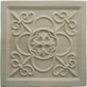 Декоративный элемент Adex ADST4036 Relieve Vizcaya Graystone 14,8x14,8 глянцевый