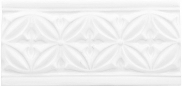 Бордюр Adex ADST4046 Relieve Gables Snow Cap 10x19,8 глянцевый