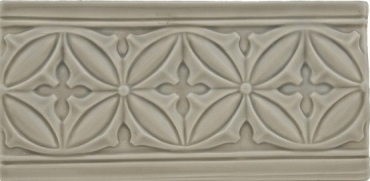 Бордюр Adex ADST4052 Relieve Gables Graystone 10x19,8 глянцевый