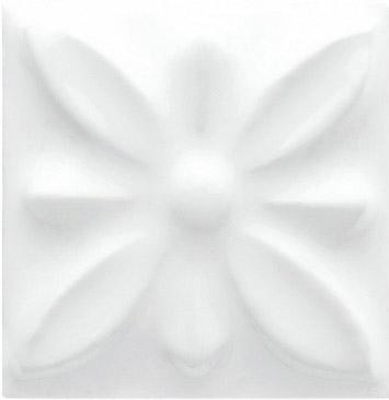 Вставка Adex ADST4053 Relieve Flor № 1 Snow Cap 3x3 глянцевая
