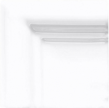 Вставка Adex ADST5164 Angulo Marco Cornisa Snow Cap 7,5x7,5 глянцевая