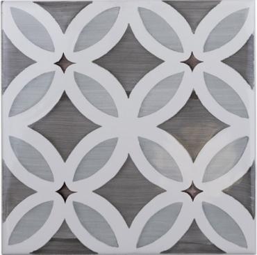 Декоративный элемент Adex ADST6001 Decorado Flores Dusk 14,8x14,8 глянцевый