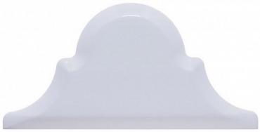 Плитка Adex ADST8008 Arabesco Biselado Remate Snow Cap 7,5x15 глянцевая
