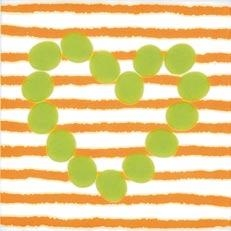 Agatha Corazon Lineas Naranja