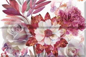 Aure Composicion Savage Flowers Berenjena 01