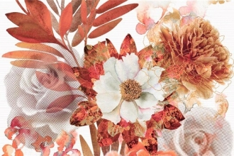 Aure Composicion Savage Flowers Marron 01