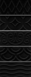 Авеллино чёрный структура mix 16016