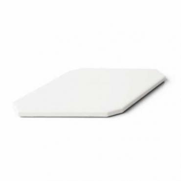 Плитка Petracers Bianco Rombo Liscio 10x20 глянцевая