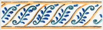 Бордюр Капри майолика STG\A462\5232