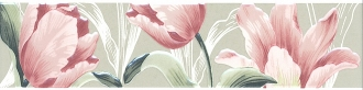 Бордюр Норфолк Цветы зеленый STG\B270\11000