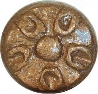 Boton Dec. Flor Gold