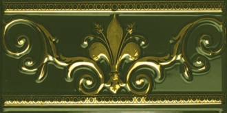 Cenefa Verde Botella Gold