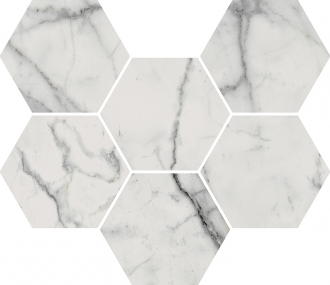 Charme Evo Statuario Mosaico Hexagon