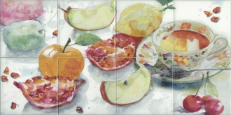 Composition Acuarela Frutas