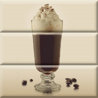 Composition Coffee Glass