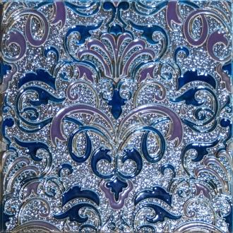 Composition Damasco Cobalto
