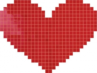 Cupido Rosso Mosaico