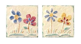 Dec. Fiore Giallo/Verde AB