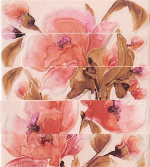 Декор Jolie Fiore Rosa Listello Mix3