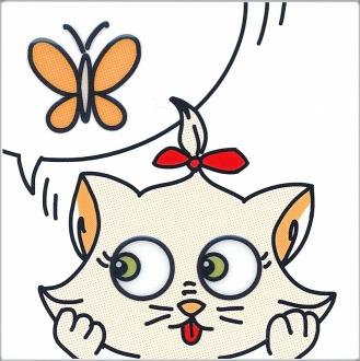 Декор Кошки-Мышки. Бабочка NT\A131\5009