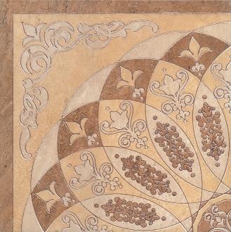 Декор Монтаньоне беж лаппатированный 1\4 розона HGD\A37\TU0031L