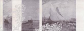 Декор Ньюпорт Корабли фиолетовый STG/C207/15010