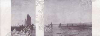 Декор Ньюпорт Корабли фиолетовый STG/C208/15010