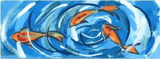 Декор Салерно Рыбки STG\A385\15000