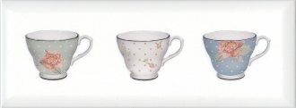 Декор Веджвуд Чашки белый грань STG\A274\15036
