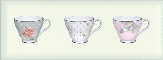 Декор Веджвуд Чашки зеленый грань STG\C274\15033
