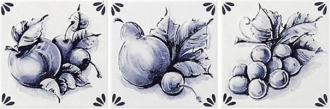 Delft Decoro Inserto Fruits ABC
