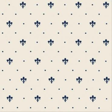 Плитка Petracers Giglio blu su Panna 20x20 матовая