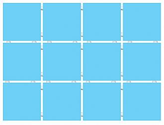 Конфетти голубой 1211