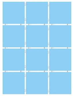 Конфетти голубой блестящий 1147