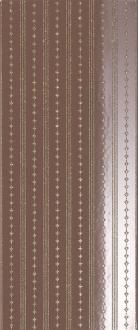 Magnifica Decoro Righe Glitter Coffee Brown