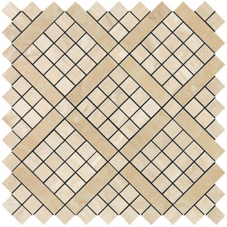 Marvel Travertino Alabastrino Diagonal Mosaic