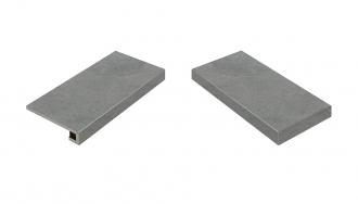 Materia Carbonio Scalino Angolare Destro
