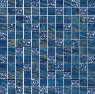 Mosaico Lux Mix Quadretti Blu
