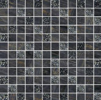 Mosaico Lux Mix Quadretti Nero